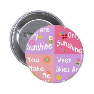 Motivational phrase typography - Collage Pinback Buttons