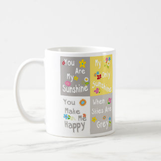 Motivational Phrases Typography - Collage Coffee Mug