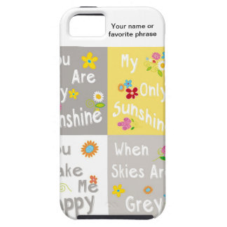 Motivational Phrases Typography - Collage iPhone 5 Cover