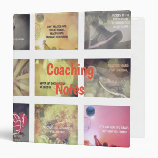 Motivational Pictures and Quotes Netball Theme 3 Ring Binder