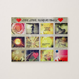 Motivational Pictures and Quotes Netball Theme Jigsaw Puzzle