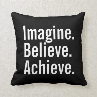 Motivational Pillow - Imagine, Believe, Achieve