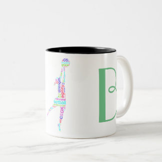 Motivational Positions Personalised Netball Two-Tone Coffee Mug