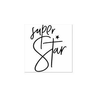 MOTIVATIONAL POSITIVE hand lettered super star Rubber Stamp