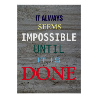 Motivational Possibility Quote Grey Wall Poster