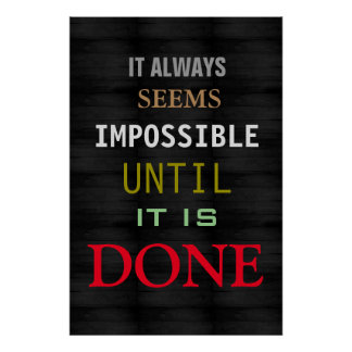 Motivational Possibility Quote Grey Wood Poster