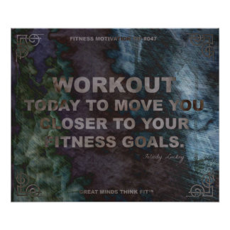 Motivational Poster for Fitness Quote 047