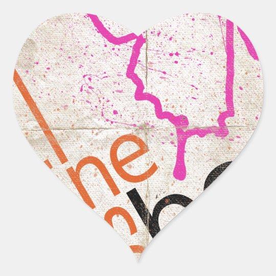 Motivational Poster Heart Sticker