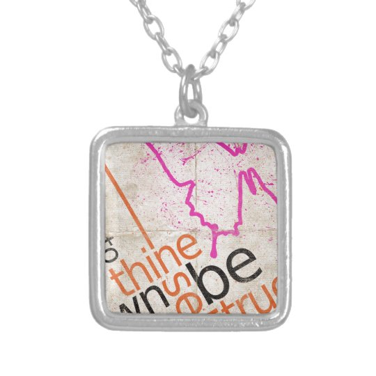 Motivational Poster Silver Plated Necklace