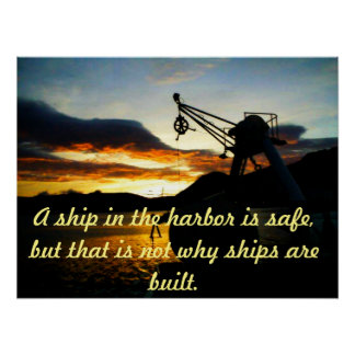 Motivational Poster with Nautical Theme