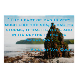 Motivational Poster with quote by Vincent Van Gogh