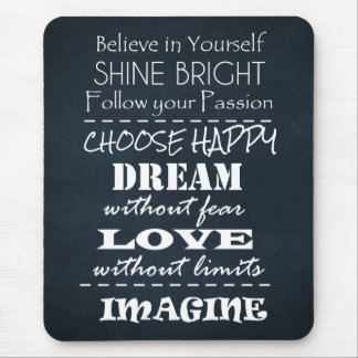 Motivational Quote Affirmations Mouse Pad