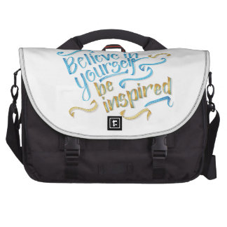 Motivational Quote - Believe in yourself Computer Bag