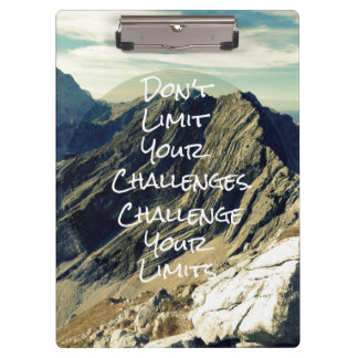 Motivational Quote: Challenge Your Limits Clipboard