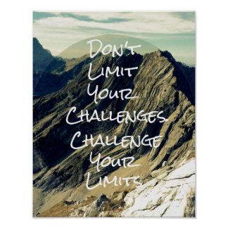 Motivational Quote: Challenge Your Limits Poster