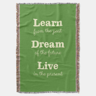 Motivational Quote custom color throw blanket