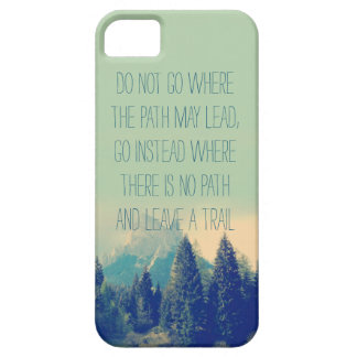Motivational quote iPhone 5 case Emerson quote