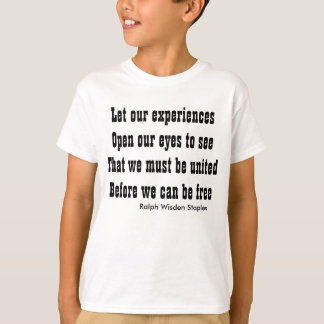 #Motivational quote on #unity T-Shirt