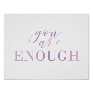 Motivational Quote Print in Ombre
