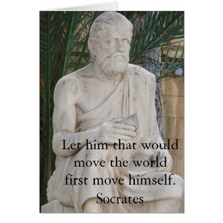 Motivational Quote Socrates Card