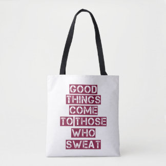 Motivational Quote Tote - Gym Bag