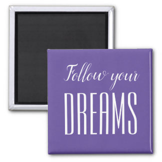 Motivational quote trendy minimalist modern magnet