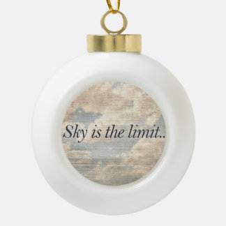 Motivational Quotes Photo Ceramic Ball Christmas Ornament