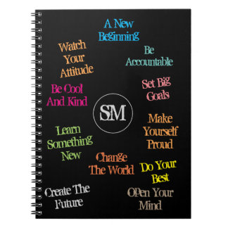 Motivational Quotes with Your Personal Initials - Notebook