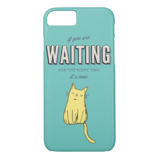 Motivational retro type The right time is now iPhone 7 Case