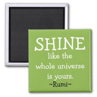 Motivational Rumi Quote Square Magnet