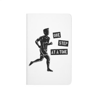 Motivational Running Man Quote Black Journal