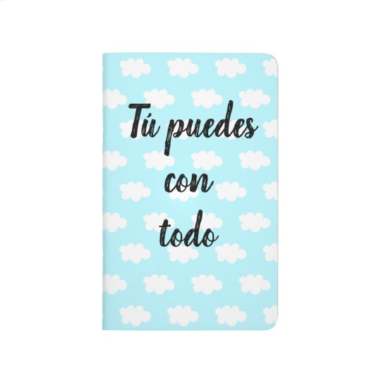 "Motivational Spanish ""Tú puedes"" Notebook"