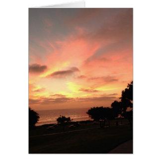 Motivational Sunset Card