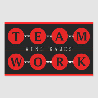 Motivational TEAMWORK  Wins Games Stickers