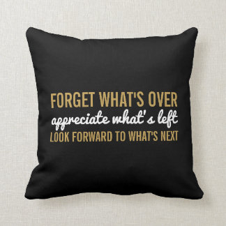 Motivational Typography | Modern Word Art Quote Throw Pillow