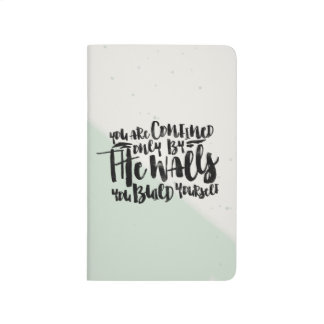 Motivational typography quote watercolor - mint | journals