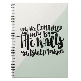 Motivational typography quote watercolor - mint | spiral notebooks