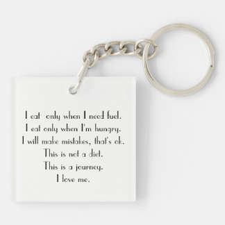"""Motivational Weight Loss Key Chain"" Keychain"