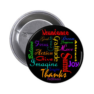 Motivational Word Collage Button