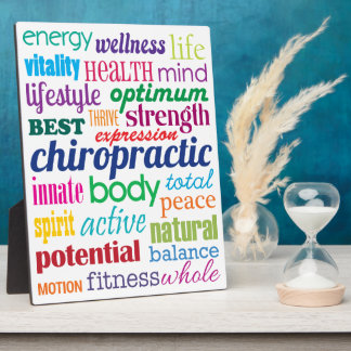 Motivational Word Collage Chiropractic Plaque