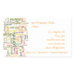 Motivational Words #2 Double-Sided Standard Business Cards (Pack Of 100)