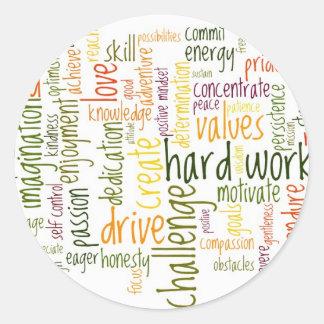 Motivational Words #2 positive attitude Classic Round Sticker