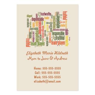 Motivational Words #4 positive values Large Business Card