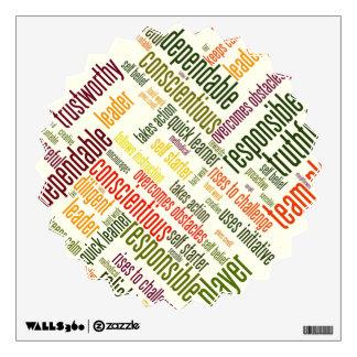 Motivational Words #4 positive values Wall Sticker