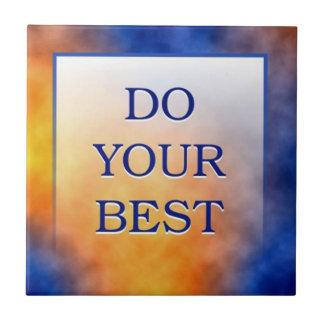 Motivational Words Artistic Tiles:Do Your Best Tile
