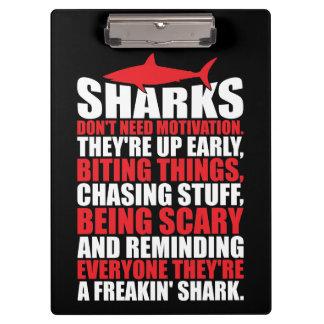 Motivational Words - Be A Shark Clipboard