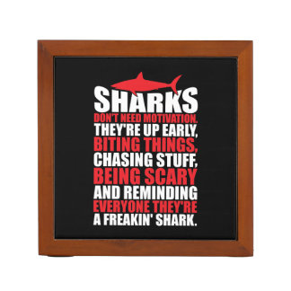 Motivational Words - Be A Shark Desk Organizer