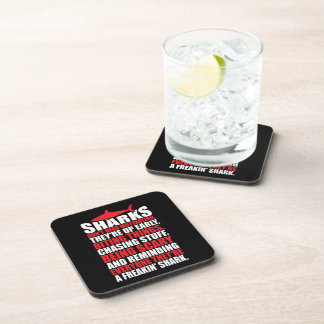 Motivational Words - Be A Shark Drink Coasters