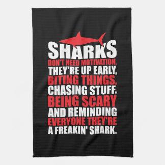 Motivational Words - Be A Shark Kitchen Towel
