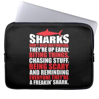 Motivational Words - Be A Shark Laptop Sleeve